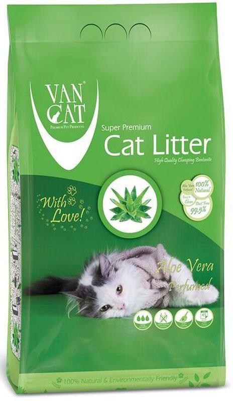 Наполнитель для кошачьих туалетов Van Cat, комкующийся, без пыли, с ароматом алое вера, 5 кг20659Наполнитель для кошачьего туалета Van Cat эффективно удерживает запах, а специальный ароматизатор подарит вашему дому приятный аромат алоэ вера. Обладает высокой абсорбцией, отлично комкуется, не пылит, лапы остаются чистыми.Не прилипает к лапам и шерсти. Не содержит химических примесей. Безопасен для животных и окружающей среды. Сохраняет лоток сухим, прост в уборке. Размер гранул: 0,6-2,25 мм. Товар сертифицирован.