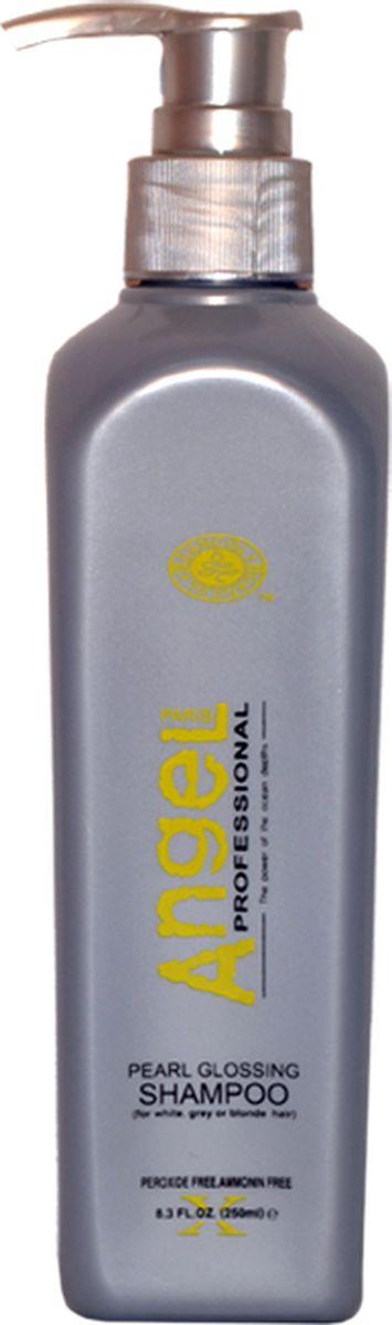 Angel professional Синий шампунь для холодных оттенков блонд, 250 млА-208-1Мягкая формула шампуня бережно очищает поверхность волос, фиолетовые пигменты удаляют нежелательные теплые оттенки. Особые ухаживающие компоненты шампуня оказывают легкий эффект ламинирования волос. Хорошо выглаживает кутикулу волоса, придает гладкость, эластичность и невероятное перламутровое сияние.