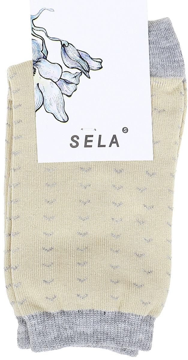Носки женские Sela, цвет: молочный. SOb-154/053-7331. Размер 19/21SOb-154/053-7331Удобные женские носки Sela изготовлены из высококачественного приятного на ощупь материала. Благодаря содержанию мягкого хлопка в составе, кожа сможет дышать, а эластан позволяет носкам легко тянуться, что делает их комфортными в носке. Эластичная резинка плотно облегает ногу, не сдавливая ее, и обеспечивает комфорт и удобство. Уважаемые клиенты! Размер, доступный для заказа, является длиной стопы.