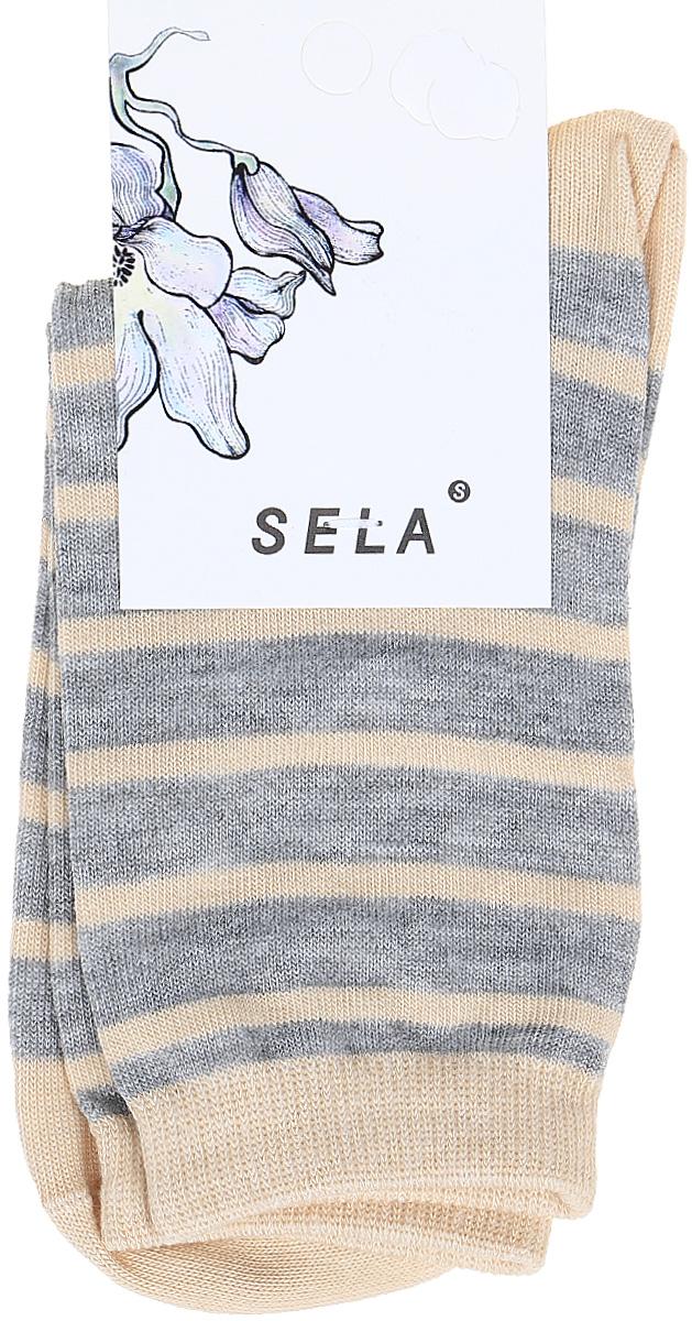 Носки женские Sela, цвет: светло-серый меланж. SOb-154/054-7331. Размер 19/21SOb-154/054-7331Удобные женские носки Sela изготовлены из высококачественного приятного на ощупь материала в полоску. Благодаря содержанию мягкого хлопка в составе, кожа сможет дышать, а эластан позволяет носкам легко тянуться, что делает их комфортными в носке. Эластичная резинка плотно облегает ногу, не сдавливая ее, и обеспечивает комфорт и удобство. Уважаемые клиенты! Размер, доступный для заказа, является длиной стопы.