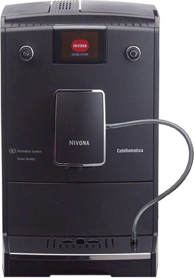 Nivona CafeRomatica NICR 758 кофемашинаТВОС-00696Nivona CafeRomatica NICR 758 - это идеальная машина для всех тех, кто любит свою жизнь и готовит чистый, простой и крепкий кофе. Эта модель удовлетворит поклонников утонченных линий матовой передней частью и одним ароматическим профилем. Поразительно скромный внешний вид знает может произвести впечатление простотой и высоким качеством. Не обманывайтесь такой простотой, ведь характеристики кофемашины действительно способны поражать.МОЙ КОФЕ - индивидуальные рецепты кофе, сохраняемые одним нажатием кнопкиПрограммирование всех рецептов в реальном времениНизкий уровень шума, кофемолка из закаленной сталиСъемный узел приготовления для упрощения и повышения качества чисткиРегулировка крепеости и температуры кофе в 3 этапаРежим ECO и выключатель для достижения почти нулевого потребления энергииАвтоматическая система ополаскивания для взбивателя пеныПрограммы для очистки, удаления накипи и полоскания, запускаемые одним нажатием кнопкиФункция статистики и мониторинга необходимости технического обслуживанияАвтоматический контроль уровня воды и кофейных зеренИндивидуальная настройка степени помолаРегулируемый по высоте выход для кофе (до 14 см)Подставка для чашкиНасос с давлением 15 барГорячая вода для чаяДополнительный отсек для кофейного порошкаЗащитная крышка для сохранения аромата.