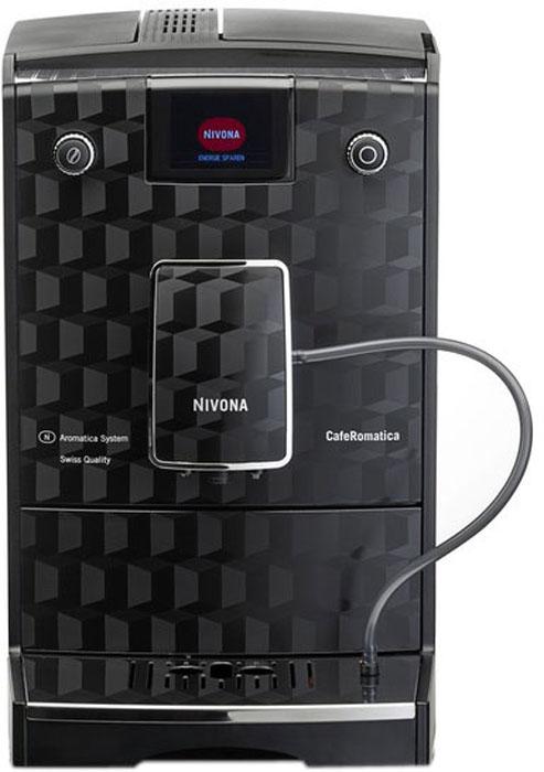 Nivona CafeRomatica NICR 788 кофемашинаТВОС-00692Кофемашина NIVONA CafeRomatica 788 -это многофункциональный прибор, который поможет вам без труда насладиться любимым напитком. Откройте для себя новое измерение кофе!Высококлассный футуристический дизайн прекрасно впишется в каждую современную кухню. Кроме того, модель 788 имеет функции обеспечения производительности, вдохновляющие каждого ценителя кофе. Nivona CafeRomatica NICR 788 обладает массой функций, которые облегчают как само приготовление ароматного кофе, так и уход за кофемашиной. Кофемашина может приготовить ваш единственный неповторимый рецепт, стоит только заложить один раз его в индивидуальную программу мой кофе. Nivona 788 сама подскажет, когда нуждается в очистке от накипи, вам только нужно нажать кнопочку и ваша машина сама произведет все необходимые действия и будет дальше радовать вас ароматным напитком.Устройство обладает чрезвычайно низким уровнем шума. Кофемашина оснащена функциями регулировки крепости кофе (в 5 этапов) и температуры кофе (в 3 этапа). Подставка с подогревом сохранит температуру напитка. Емкость для воды имеет объем 2,2 л.Программы для очистки, удаления накипи и полоскания, запускаемые одним нажатием кнопки, а так же функция статистики и мониторинга необходимости технического обслуживания обеспечат легкий уход за кофемашиной. Режим ECO и выключатель помогают достигнуть почти нулевого потребления энергии. Стильный дизайн кофемашины дополняет подсветка чашки.