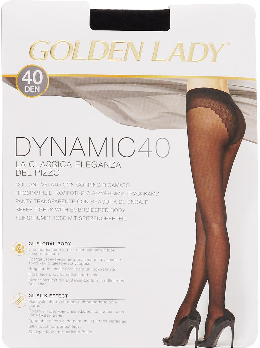 Колготки женские Golden Lady Dynamic 40, цвет: черный. Размер 4Dynamic 40Элегантные прозрачные эластичные колготки Golden Lady Dynamic 40 с ажурными трусиками-бикини, с комфортным швом, гигиеничной ластовицей и невидимым мыском.Уважаемые клиенты! Обращаем ваше внимание на то, что упаковка может иметь несколько видов дизайна. Поставка осуществляется в зависимости от наличия на складе.