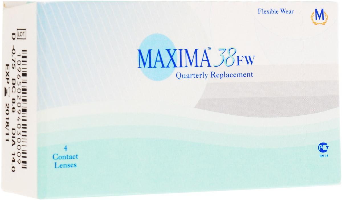 Maxima контактные линзы 38 FW (4 шт / 8.6 / -0.75)