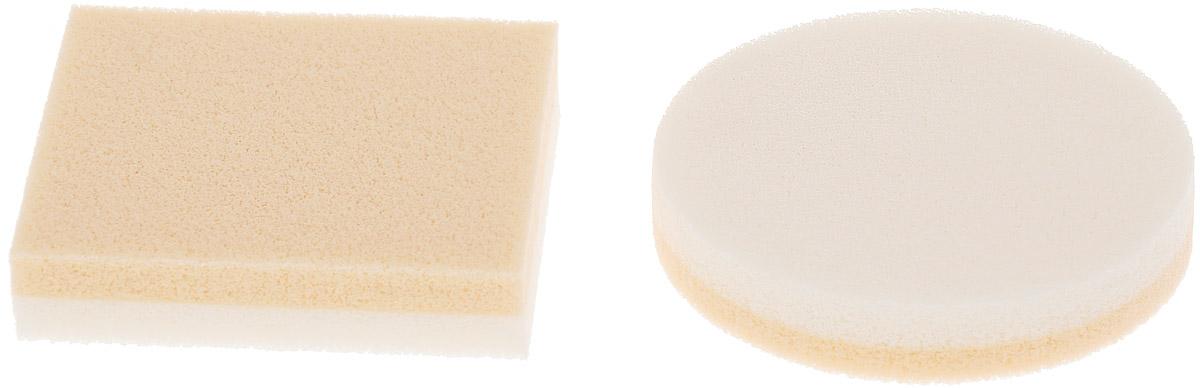 Губка для макияжа Riffi, двухслойная, из латекса, 2 шт губка для тела riffi цвет бежевый 747