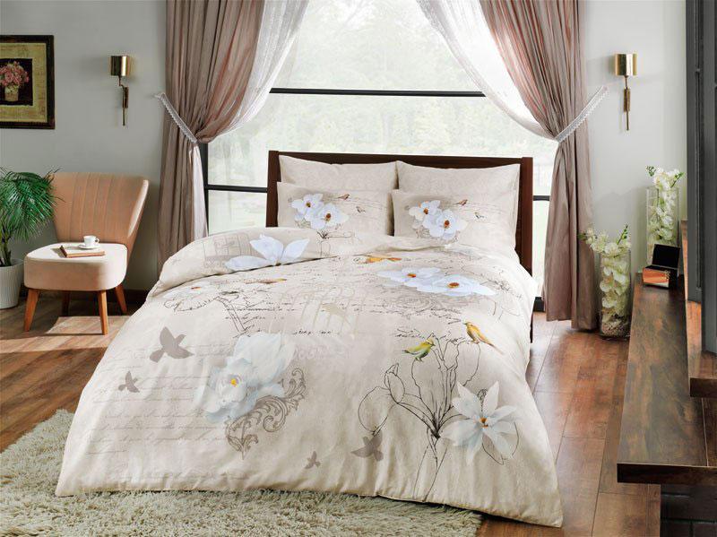 Комплект белья TAC Brenna, семейный, наволочки 50x70 см3082-20679Роскошный комплект постельного белья TAC Brenna выполнен из качественного сатина. Комплект состоит из двух пододеяльников, простыни и двух наволочек. Пододеяльник застегивается на пуговицы.Сатин - гладкая и прочная ткань, которая своим блеском, легкостью и гладкостью похожа на шелк, но выгодно отличается от него в цене. Сатин практически не мнется, поэтому его можно не гладить. Ко всему прочему, он весьма практичен, так как хорошо переносит множественные стирки.Доверьте заботу о качестве вашего сна высококачественному натуральному материалу.Советы по выбору постельного белья от блогера Ирины Соковых. Статья OZON Гид