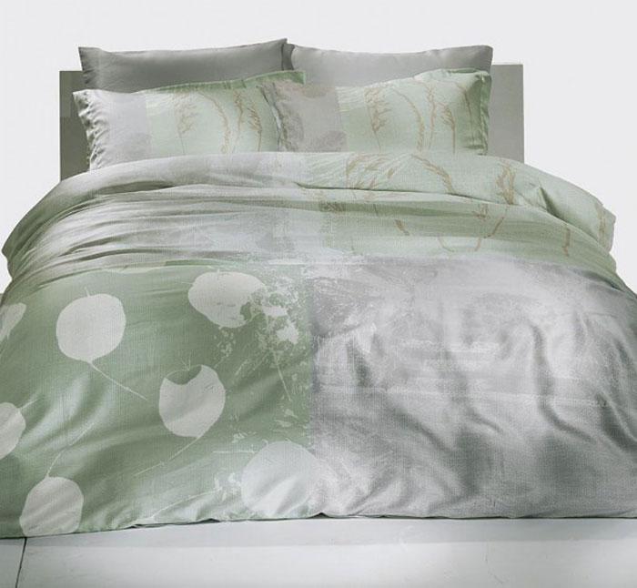 Комплект белья TAC Grisel, 1,5-спальный, наволочка 50x70 см3080-20686Роскошный комплект постельного белья TAC Grisel выполнен из качественного сатина. Комплект состоит из пододеяльника, простыни и двух наволочек. Пододеяльник застегивается на пуговицы.Сатин - гладкая и прочная ткань, которая своим блеском, легкостью и гладкостью похожа на шелк, но выгодно отличается от него в цене. Сатин практически не мнется, поэтому его можно не гладить. Ко всему прочему, он весьма практичен, так как хорошо переносит множественные стирки.Доверьте заботу о качестве вашего сна высококачественному натуральному материалу.