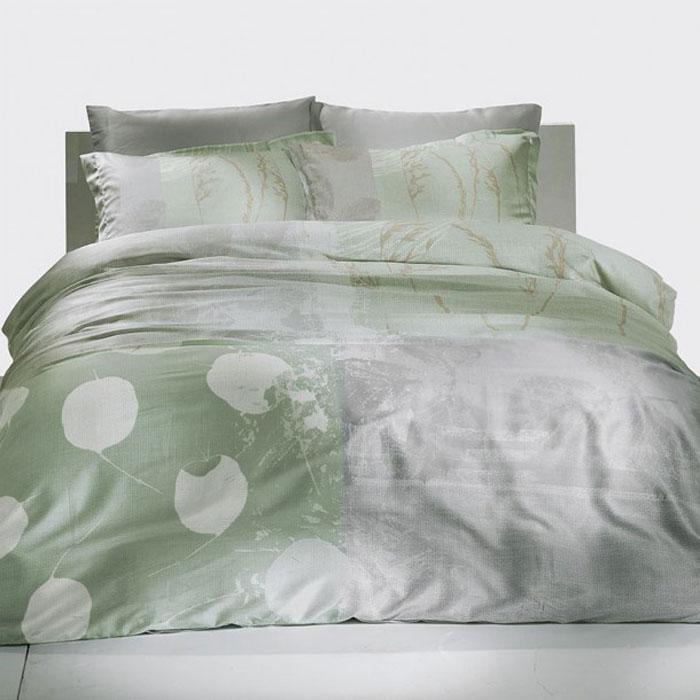 Комплект белья TAC Grisel, 2-спальный, наволочки 50x70 см3081-20687Роскошный комплект постельного белья TAC Grisel выполнен из качественного сатина. Комплект состоит из пододеяльника, простыни и двух наволочек. Пододеяльник застегивается на пуговицы.Сатин - гладкая и прочная ткань, которая своим блеском, легкостью и гладкостью похожа на шелк, но выгодно отличается от него в цене. Сатин практически не мнется, поэтому его можно не гладить. Ко всему прочему, он весьма практичен, так как хорошо переносит множественные стирки.Доверьте заботу о качестве вашего сна высококачественному натуральному материалу.