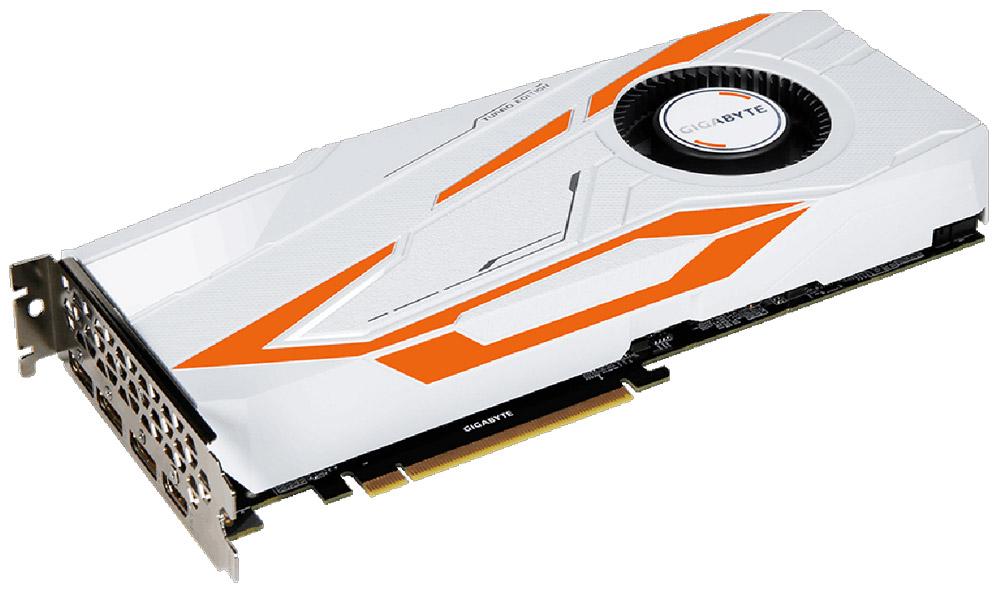 Gigabyte GeForce GTX 1080 Ti Turbo 11GB видеокартаGV-N108TTURBO-11GDGigabyte GeForce GTX 1080 Ti Turbo обеспечивает самую высокую производительность, добавляя продвинутые игровые технологии (NVIDIA GameWorks) и саму продвинутую игровую экосистему (GeForce Experience).В основе видеокарты лежит новый флагманский графический процессор с архитектурой NVIDIA Pascal.Технология NVIDIA GameWorks поддерживает последние требования современных мониторов, включая VR, мониторы с ультра высоким разрешением, так же обеспечивает плавный игровой процесс, кинематографический опыт, возможность захвата изображения 360 даже в VR. Откройте для себя новое поколение VR, с низким показателем задержки, наушниками последнего поколения, благодаря технологии NVIDIA VRWorks. VR аудио (звуковые эффекты), реалистичная графика и физика предметов, позволяют вам прочувствовать и услышать каждый момент.Композитные медные трубки сочетают в себе два важных аспекта теплопереноса и способности забирать тепло из зоны прямого контакта. Таким образом повышается эффективность охлаждения на 29%.При производстве карты используются дроссели и конденсаторы высокого качества, благодаря этому факту графическая карта обеспечивает выдающуюся производительность и долговечность системы.Как собрать игровой компьютер. Статья OZON Гид