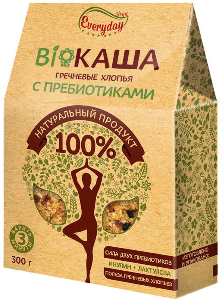 Everyday Bioкаша гречневая c пребиотиками, 300 г00000040921BioКаша Everyday - это современный продукт для здорового образа жизни и питания. В состав BioКаши входят только эффективные и исследованные пребиотики – инулин и лактулоза, в специально подобранных пропорциях.
