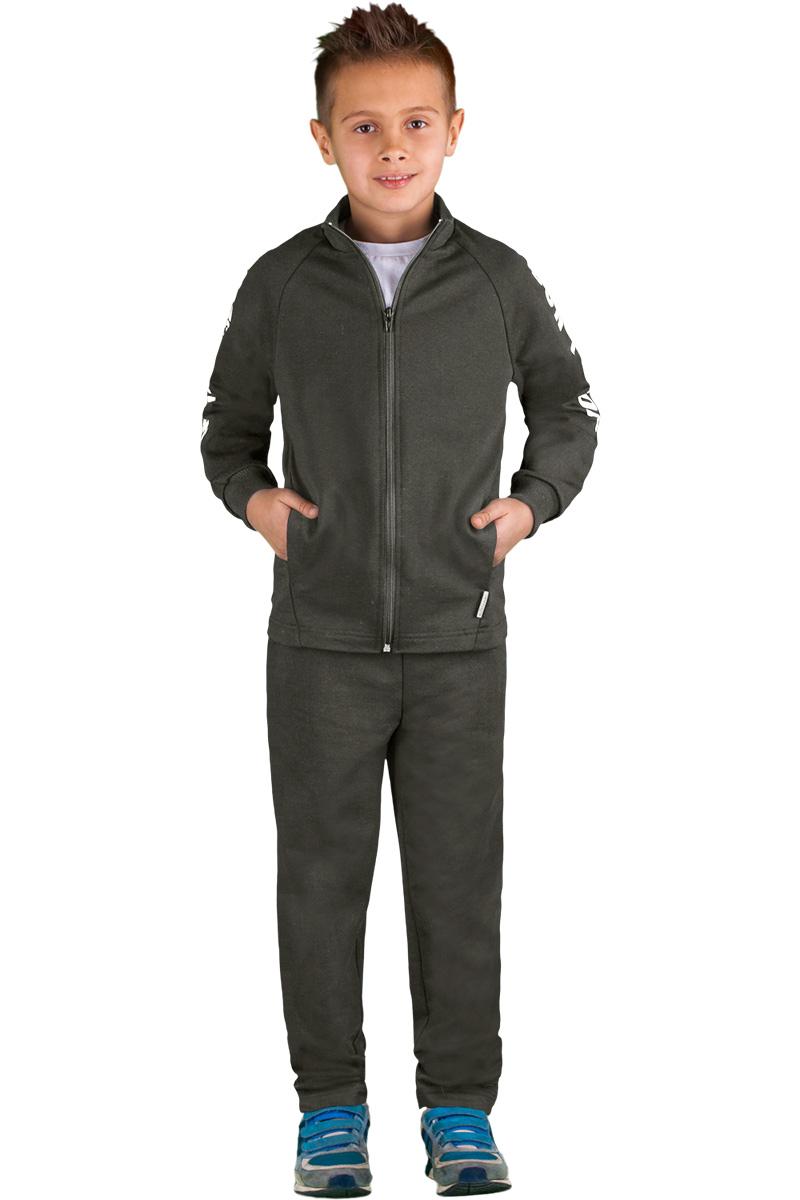 Спортивный костюм для мальчика Boom!, цвет: серый. 70815_BLB_вар.1. Размер 98/104, 3-4 года костюм для мальчика m&d цвет бордовый черный белый hwi170011 8 размер 98