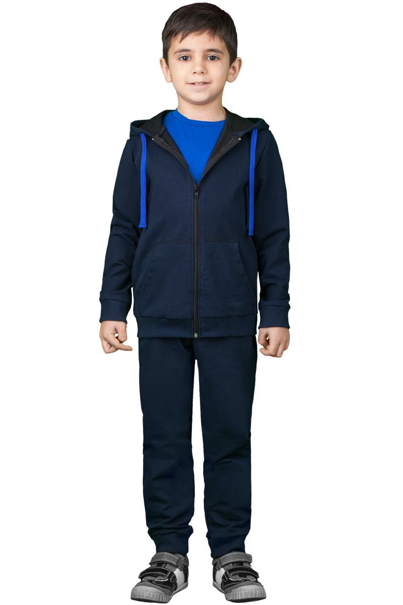 Спортивный костюм для мальчика Boom!, цвет: синий. 70814_BLB_вар.3. Размер 98/104, 3-4 года костюм для мальчика m&d цвет бордовый черный белый hwi170011 8 размер 98