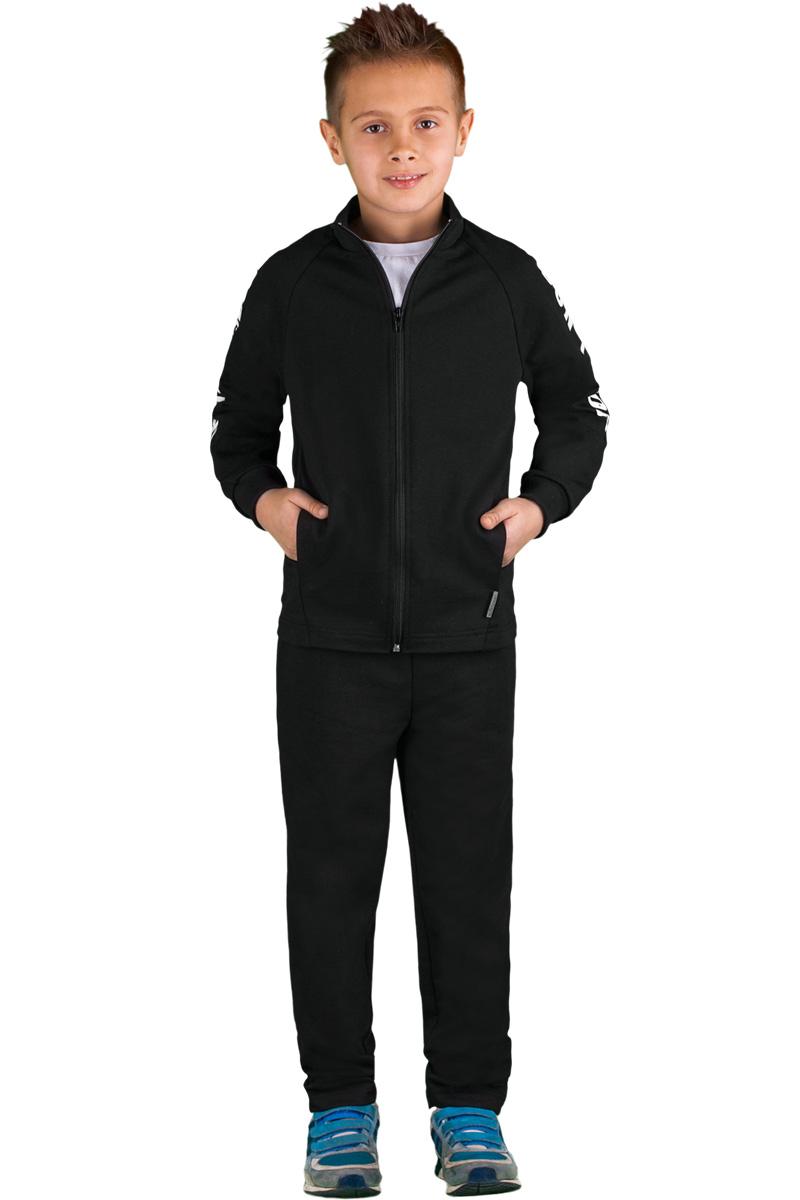 Спортивный костюм для мальчика Boom!, цвет: черный. 70815_BLB_вар.2. Размер 98/104, 3-4 года комплект верхней одежды для мальчика boom куртка брюки цвет синий черный 70335 bob вар 2 размер 98 3 4 года