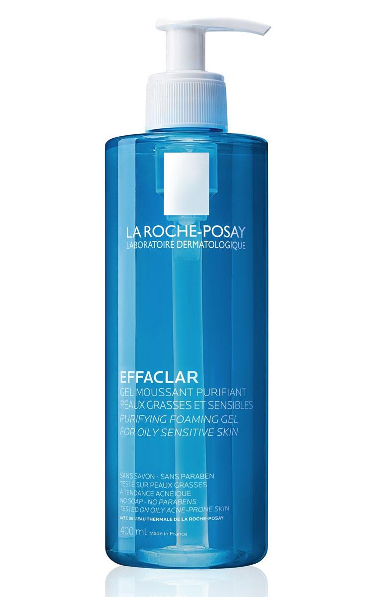 La Roche-Posay Очищающий гель для умывания Effaclar 400 млM0715101Пенящийся гель бережно очищает кожу от загрязнений и макияжа, очищает поры, удаляет избыток кожного сала, а также обладает антибактериальным действием благодаря содержанию Гликасила и Пидолата Цинка.Очищающий пенящийся гель EFFACLAR GEL создан на основе термальной воды La Roche-Posay. Предназначен для использования для жирной, чувствительной кожи. Переносимость средства доказана на коже, склонной к появлению угревых высыпаний*.Рекомендации по использованию: гель вспенить в ладонях с помощью небольшого количества воды и нанести на кожу массирующими движениями, избегая контура глаз. Тщательно смыть водой, затем нанести тонизирующее средство и основной уход.
