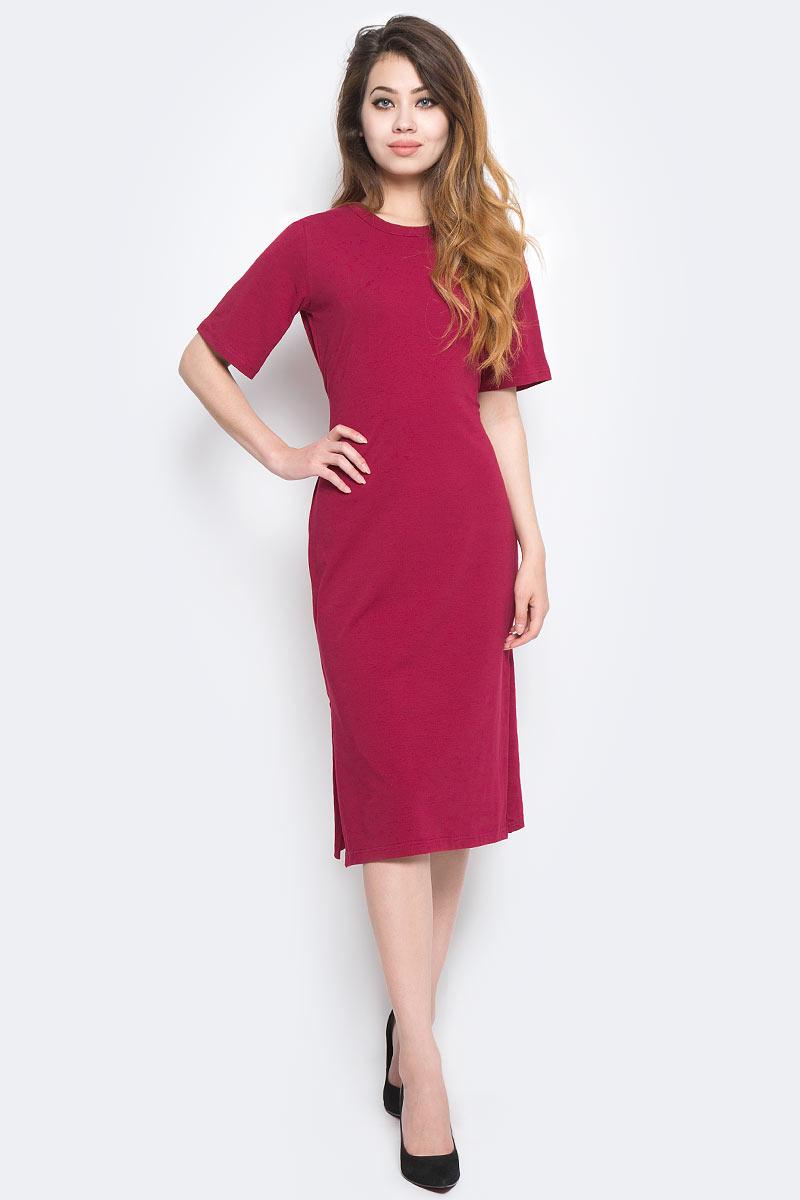 Купить Платье Kawaii Factory, цвет: темно-красный. KW177-000059. Размер 42/46
