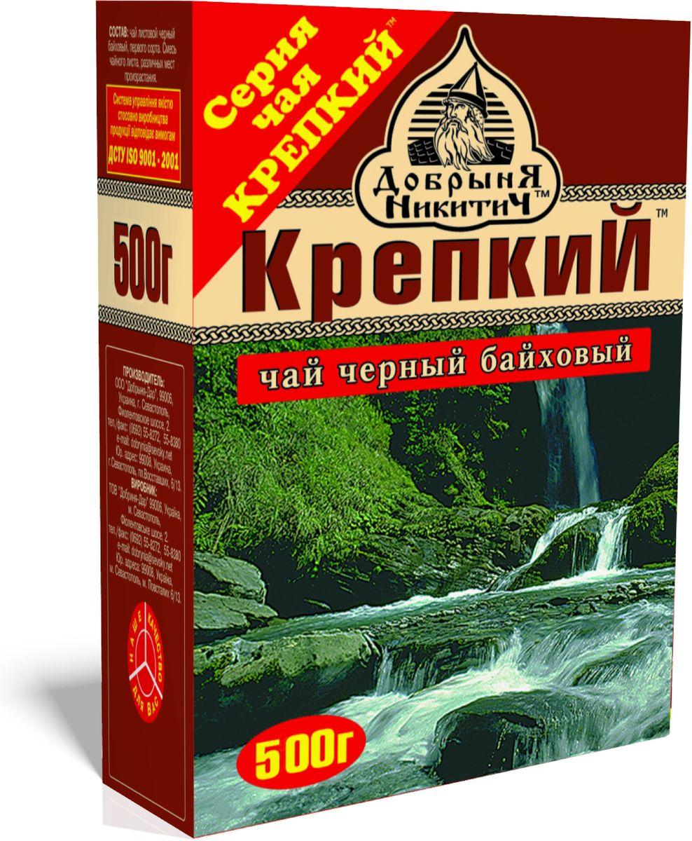 Добрыня Никитич Крепкий черный чай среднелистовой, 500 г раскраска добрыня никитич