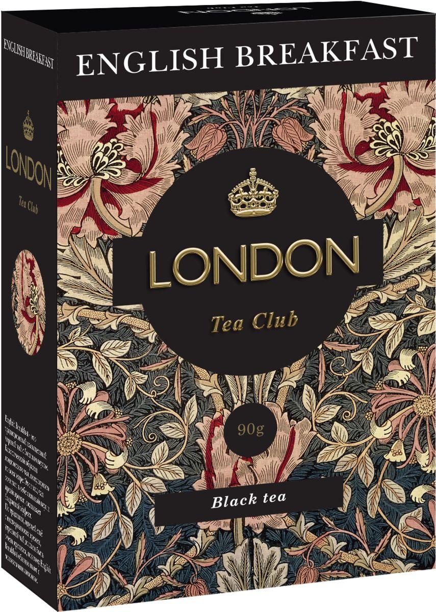 London Tea Club English Breakfast чай черный, 90 г4607051541375Крепкий, бодрящий English Breakfast занимает почетное место среди самых популярных чайных купажей во всем мире. Этот чай с насыщенным вкусом и ароматом, дающий энергию, традиционно используют в качестве утреннего чая. Хорошо сочетается с молоком или лимоном.