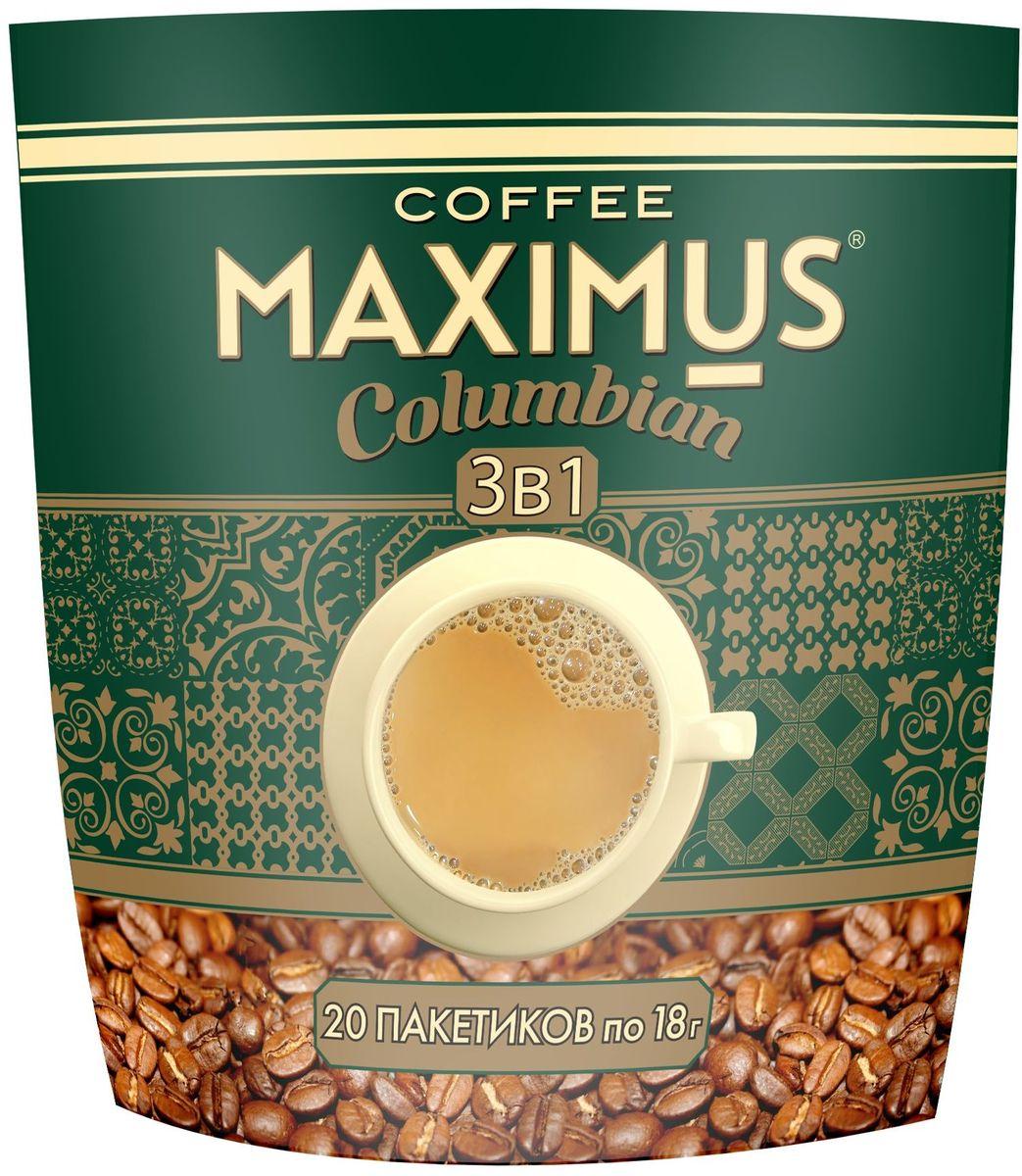 Maximus Columbian растворимый кофейный напиток в пакетиках, 20 шт maximus brazil кофе растворимый 70 г