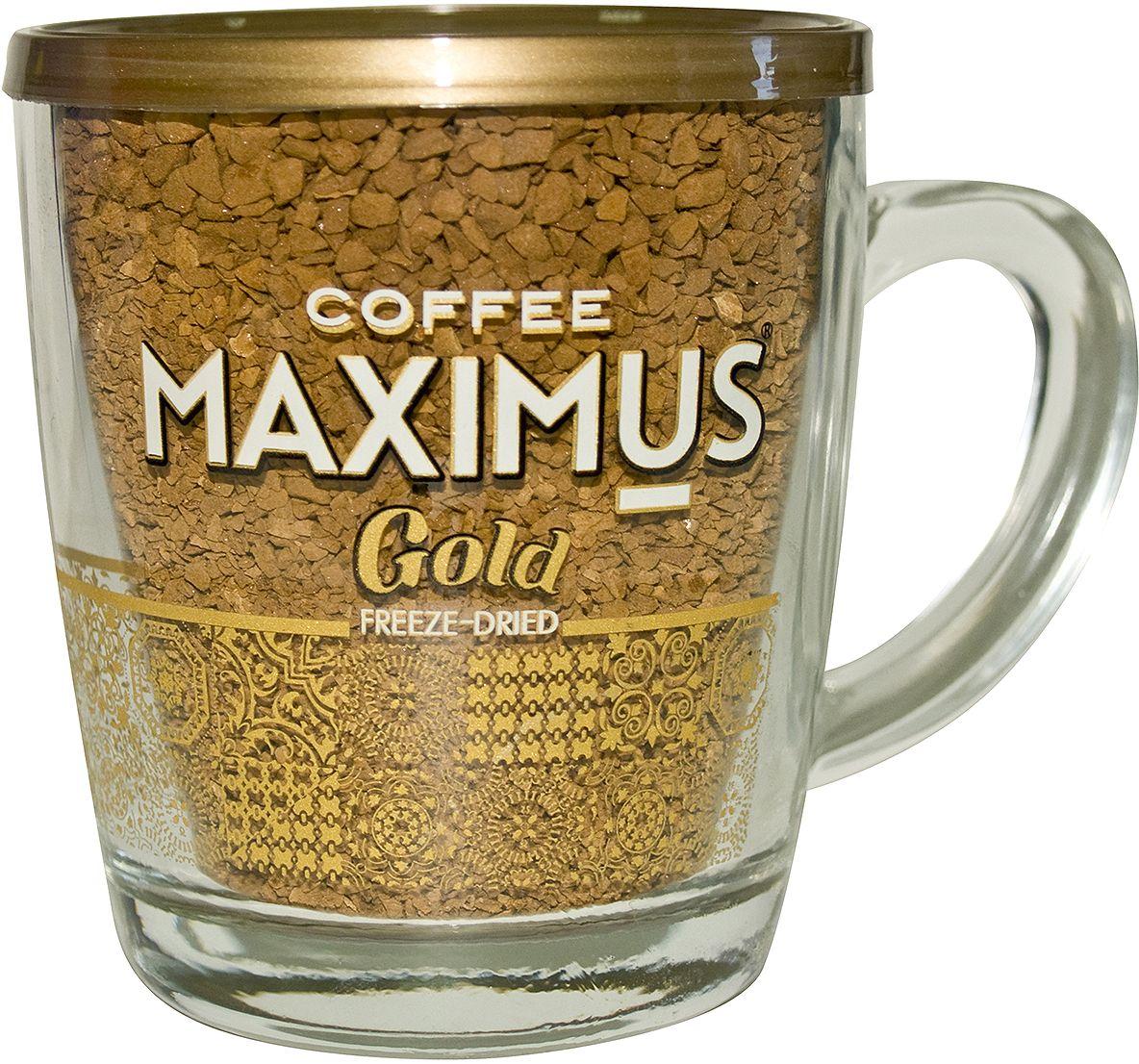 Maximus Gold кофе растворимый в стеклянной кружке, 70 г maximus brazil кофе растворимый 70 г