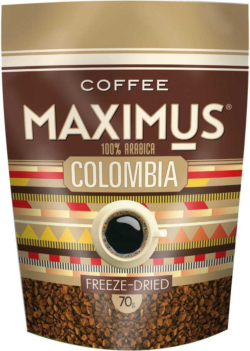 Maximus Colombia кофе растворимый, 70 г4607051541719Этот кофе ценится благодаря прекрасному вкусовому букету и стойкому аромату.Кофе: мифы и факты. Статья OZON Гид