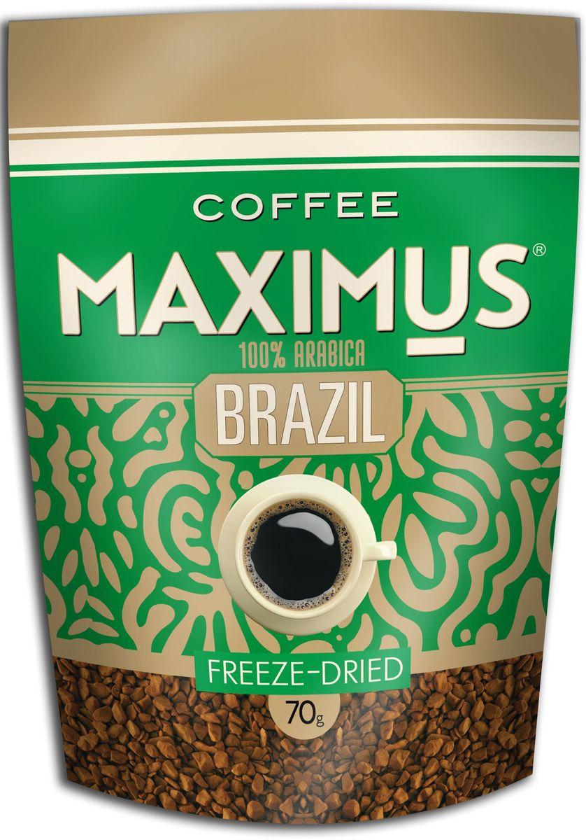 Maximus Brazil кофе растворимый, 70 г4607051541740Кофе с глубоким цельным вкусом с легкой кислинкой, исключительно ароматный. Аромат тонкий, сбалансированный, с легким ореховым оттенком.