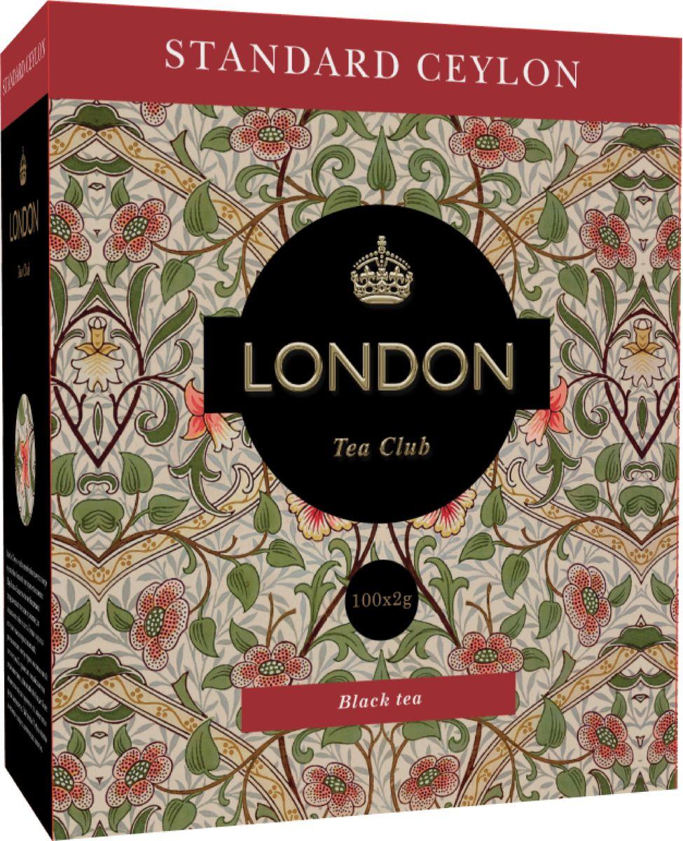 London Tea Club Standard Ceylon черный чай в пакетиках, 100 шт4607051541795Стандарт цейлонского чая хорошо известен своим качеством. Этот чай славится своим ароматом и насыщенным, крепким, терпким вкусом. Отлично сочетается с молоком или лимоном.