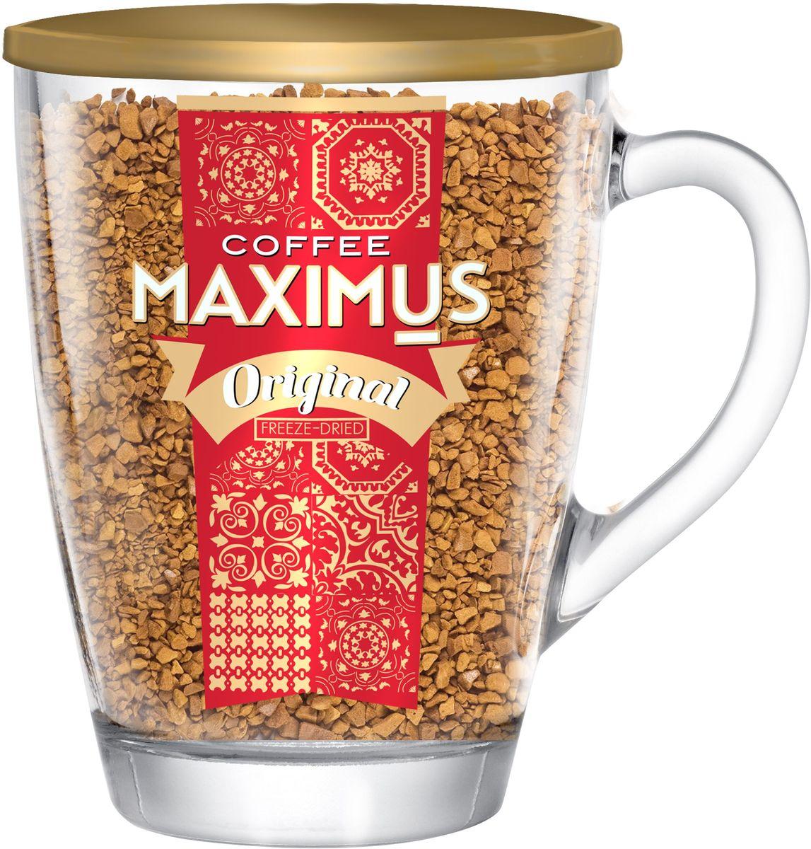Maximus Original кофе растворимый в стеклянной кружке, 70 г4607051542341ТМ Maximus Original - гармоничный бренд, достаточно крепкий, с благородным вкусом, отлично подходит для утренней чашки кофе, зарядит энергией в течение дня.Кофе: мифы и факты. Статья OZON Гид