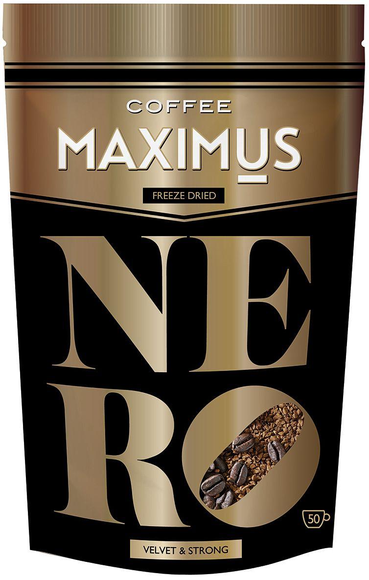 Maximus Nero кофе растворимый, 70 г4607051542976Создан для тех, кто предпочитает крепкий кофе с богатым бархатным вкусом.