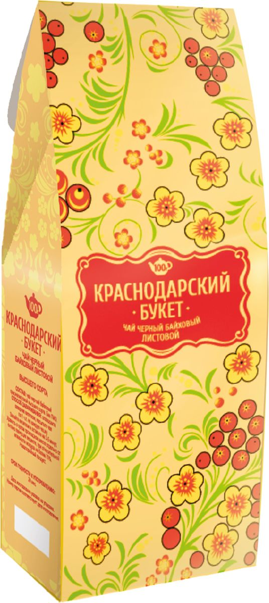 Краснодарский букет чай черный листовой, 100 г greenfield чай greenfield классик брекфаст листовой черный 100г