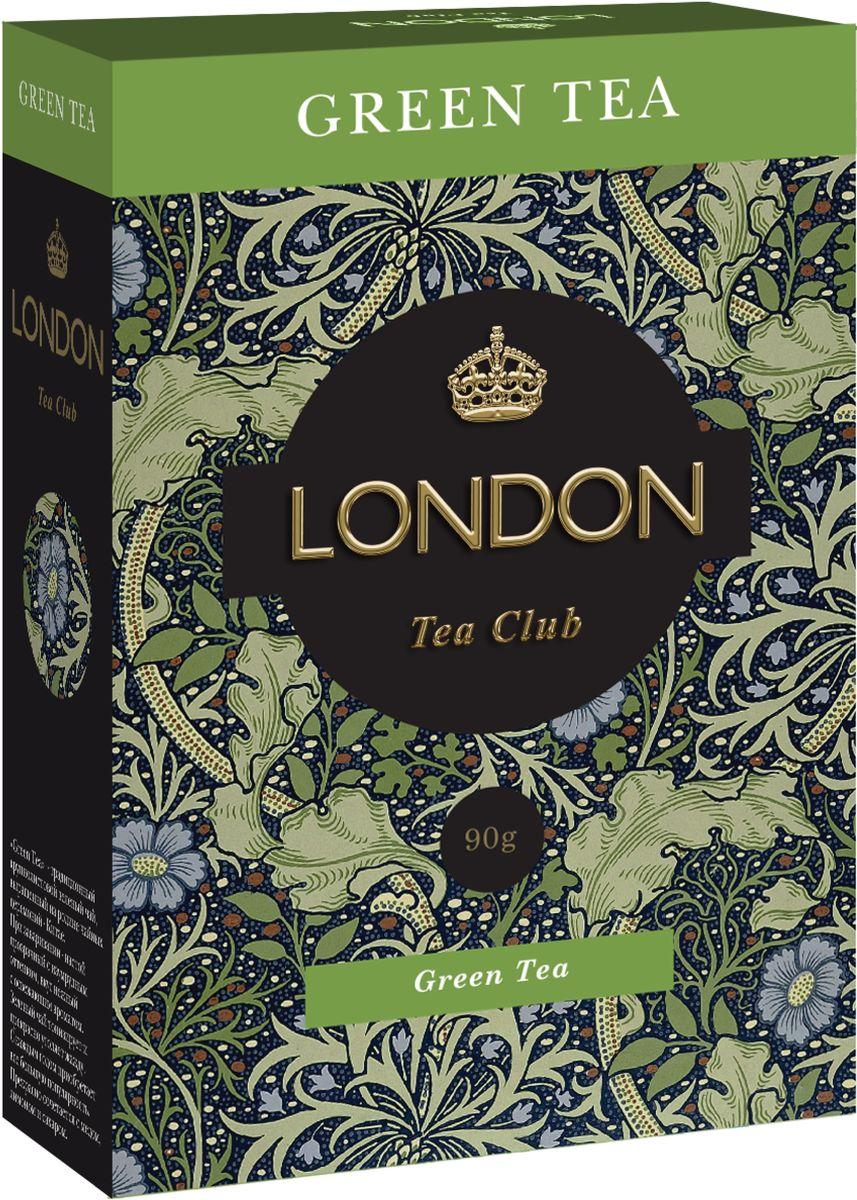 London Tea Club Green Tea чай зеленый крупнолистовой, 90 г чай зеленый akbar green tea китайский пакетированный