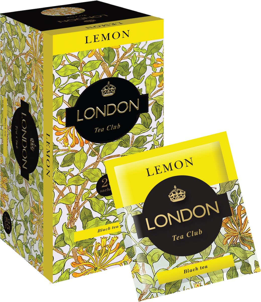 London Tea Club Лимон чай черный в пакетиках, 25 шт принцесса нури лимон черный чай в пакетиках 25 шт