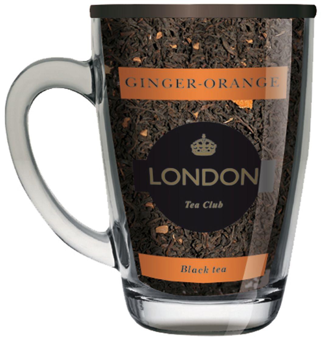 Фото London Tea Club Имбирь-апельсин чай черный в стеклянной кружке, 70 г