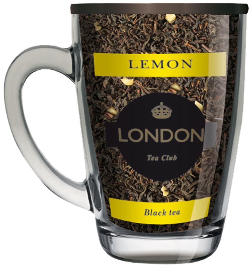 London Tea Club Лимон чай черный в стеклянной кружке, 70 г4607051543577Черный чай с добавлением лимона, традиционно любимый многими поклонниками чая за его крепкий насыщенный вкус и освежающий цитрусовый аромат.