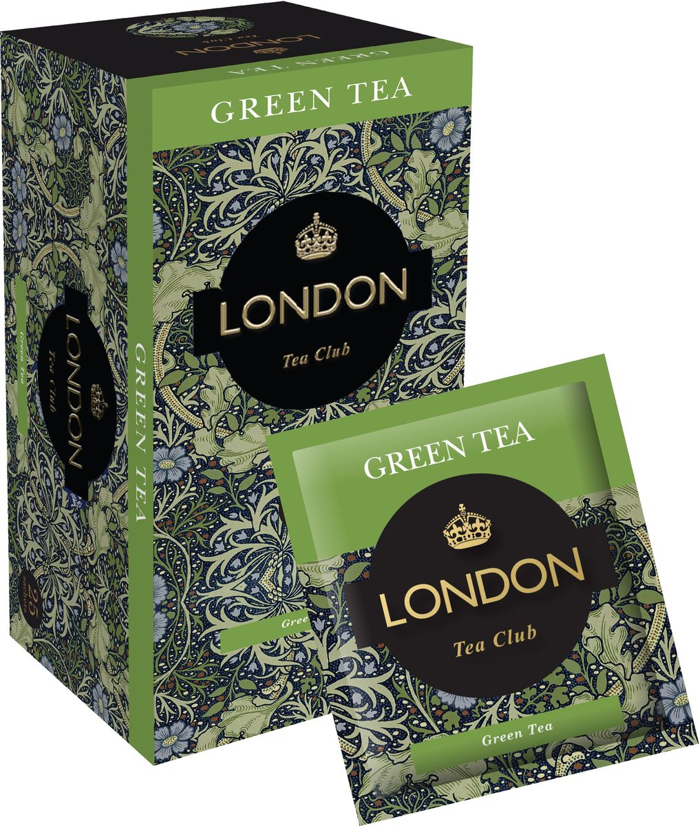 London Tea Club Green Tea в пакетиках, 25 шт anxi maoxie tieguanyin tea chinese oolong natural organic tie guan yin зеленый чай высшего качества чай