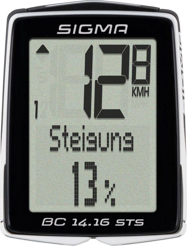 Велокомпьютер Sigma Topline BC 14.16 STS CAD, 14 функцийSIG_01418Велокомпьютер Topline BC 14.16 STS CAD является идеальным спутником для всех, кто ставит высокие цели. Расширенные функции высотомера включают в себя графический профиль высоты и процент подъема. STS CAD снабжен передатчиком частоты вращения педалей. Использование технологии NFC позволяет BC 14.16 STS обмениваться данными с Android телефоном через приложение LINK SIGMA. Прибор имеет шесть функций работы с высотой и две функции частоты вращения педалей.Особенности:2 размера колес;автоматический старт / стоп;автоматическое распознавание велосипедов;автоматическое сопряжение;резервная функция микросхемы памяти (общая и установка значений);передача данных с помощью док-станции topline 2016 года;цифровое радио;режим экономии энергии;подсветка;связь со смартфоном (android) через NFC;7 языков;статистика тренировок на 12 месяцев. Функции:текущая скорость;средняя скорость;время вождения;максимальная скорость;время (12/24);общее время в пути;общий прирост высоты;общее расстояние для двух колес;текущая температура. Функции высотомера:текущий уровень;текущий наклон / склонение;высота профиля. Функции каденса:текущая частота вращения педалей;средняя частота вращения педалей. В комплект входит:ATS держатель / STS 2032;STS датчик комплект;мощный магнит;датчик скорости STS;2 уплотнительных кольца (диаметр 35 мм, 45 мм).