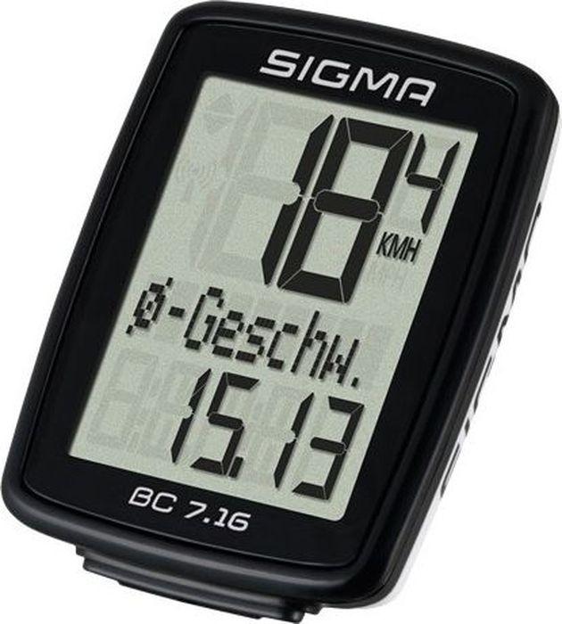 Велокомпьютер Sigma  Topline BC 7.16 , 7 функций - Велокомпьютеры