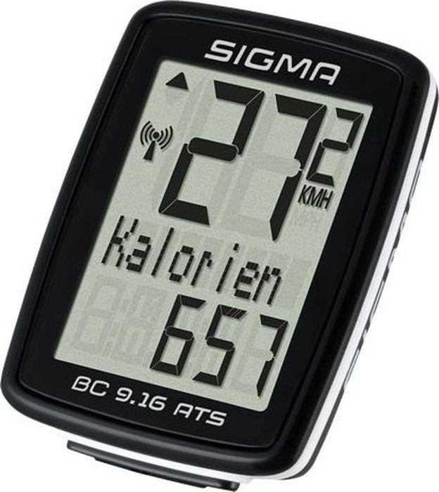 Велокомпьютер Sigma Topline BC 9.16 ATS, 9 функцийSIG_09162Беспроводной велокомпьютер Sigma Topline BC 9.16 ATS с аналоговой передачей данных является идеальным повседневным спутником, который иногда может быть немного более спортивным. На основе скорости он вычисляет потребляемые калории. Добавлена дополнительная функция максимальной скорости. Функции:Текущая скорость;Средняя скорость;Время вождения;Общее время в пути;Общее расстояние;Счетчик калорий;Максимальная скорость;Время (12/24);Аналоговый диапазон 70 см (диапазон для датчика числа оборотов);Автоматический старт / стоп, ограничено до 2 часов;Передача данных с помощью док-станции Topline 2016 года;Интервал обслуживания регулируется с помощью УФСБ;Языки: 7.Гид по велоаксессуарам. Статья OZON Гид