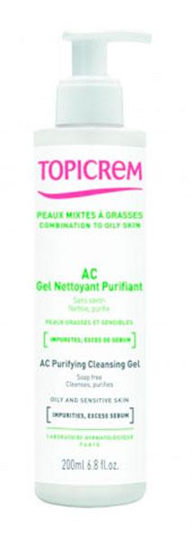 Topicrem АС Гель очищающий оздоравливающий, 200 мл  гель topicrem ad ultra rich cleansing gel