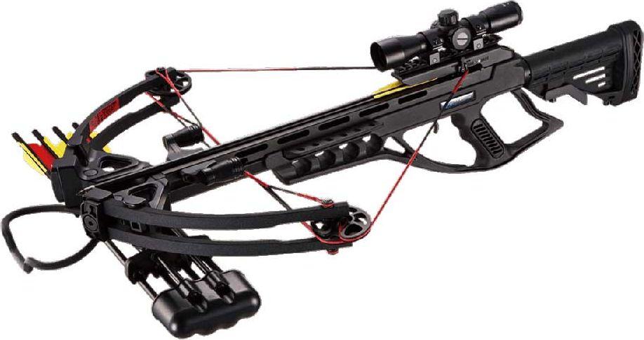 Арбалет блочный Man Kung, с комплектом аксессуаров, цвет: черный, 95 Lbs. MK/MK-XB55-BK-KIT