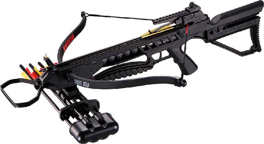 """Арбалет рекурсивный """"Man Kung"""", с комплектом аксессуаров, цвет: черный, 95 Lbs. MK/MK-XB21R-BK-KIT"""