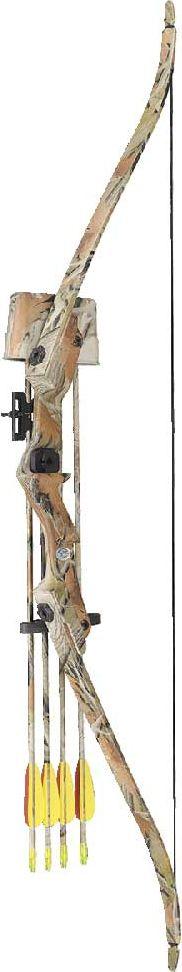 Лук рекурсивный Man Kung MK-RB007AC, для начинающих, с комплектом аксессуаров, цвет: камуфляж, 20 Lbs охота стрелки стрельба из лука стабилизировать композитный лук стабилизатор резиновые аксессуары