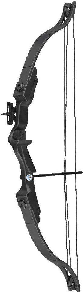 Лук блочный Man Kung MK-CB006BK, для начинающих, с комплектом аксессуаров, цвет: черный, 20 Lbs
