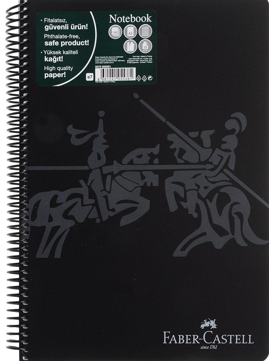Faber-Castell Блокнот Knight 140 листов в клетку цвет черный507051_черныйОригинальный блокнот Faber-Castell Knight в твердой пластиковой обложке подойдет для памятных записей, любимых стихов и многого другого.Блок состоит из 140 листов в клетку. Блокнот изготовлен со спиралью. Такой блокнот станет не только достойным аксессуаром среди ваших канцелярских принадлежностей, но и практичным подарком для в близких и друзей.