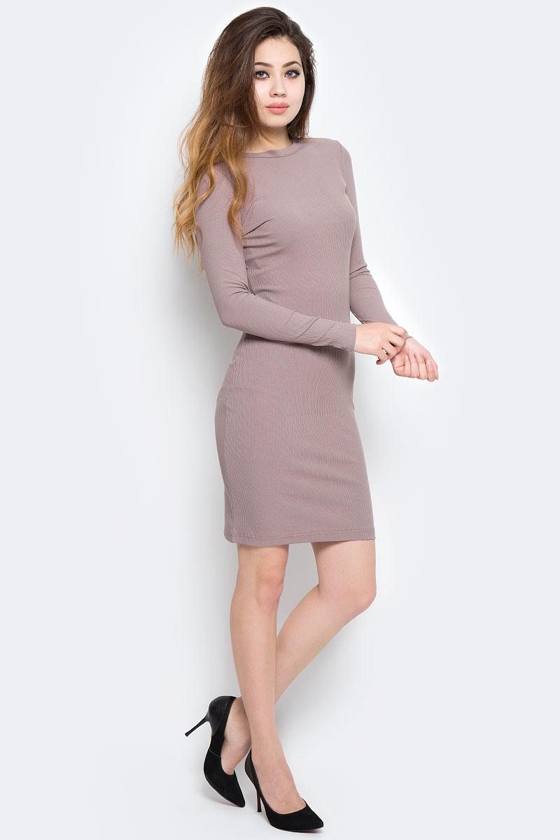 Платье Kawaii Factory, цвет: светло-коричневый. KW177-000070. Размер 42/46