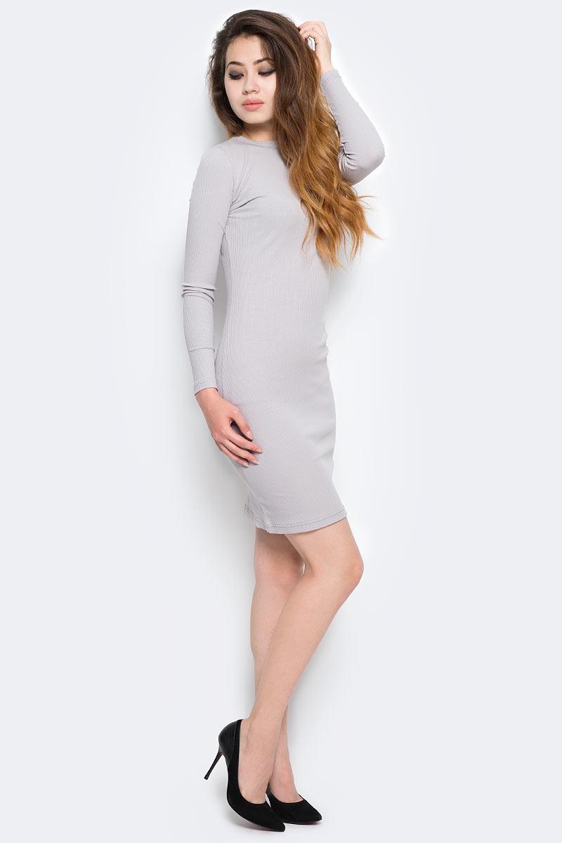 Платье Kawaii Factory, цвет: светло-серый. KW177-000068. Размер 42/46 шарфы kawaii factory шарф объемный серый