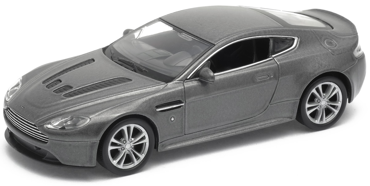 Welly Модель автомобиля Aston Martin V12 Vantage цвет серебристый welly модель машины 1 24 aston martin v12 vantage welly