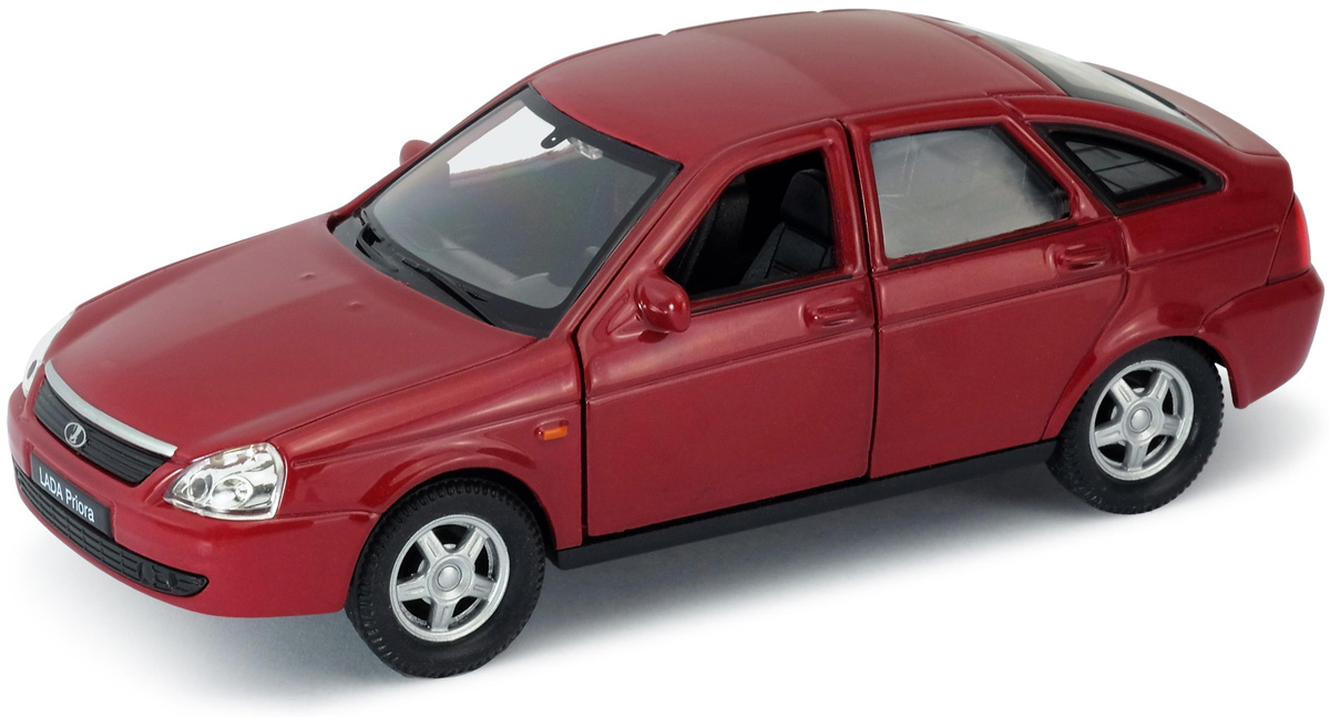 Welly Модель автомобиля LADA Priora цвет красный