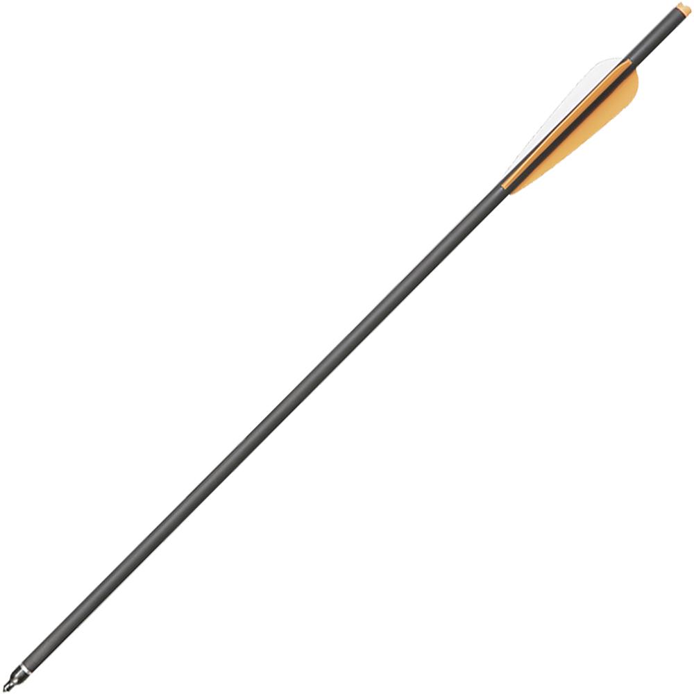Стрела Man Kung, для арбалета, цвет: черный, длина 56 смMK/MK-CA22В производстве стрел именно карбон является одним из самых популярных материалов, егопреимущество заключается повышенной прочности и устойчивости к деформациям. Стрелыоснащены стальными наконечниками и пластиковым оперением. Такое конструктивное решениепозволило разработчикам добиться прекрасных показателей скорости и хорошей прицельнойдальности. Кроме того, смещённый центр тяжести обеспечивает отсутствие колебаний привыстреле. Это положительно сказывается на эффективности стрельбы в целом и высокой еёточности в частности.