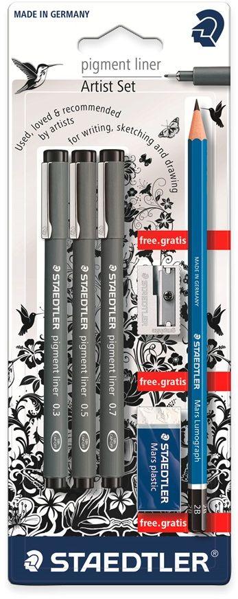 Staedtler Канцелярский набор Pigment 6 предметов -  Канцелярские наборы