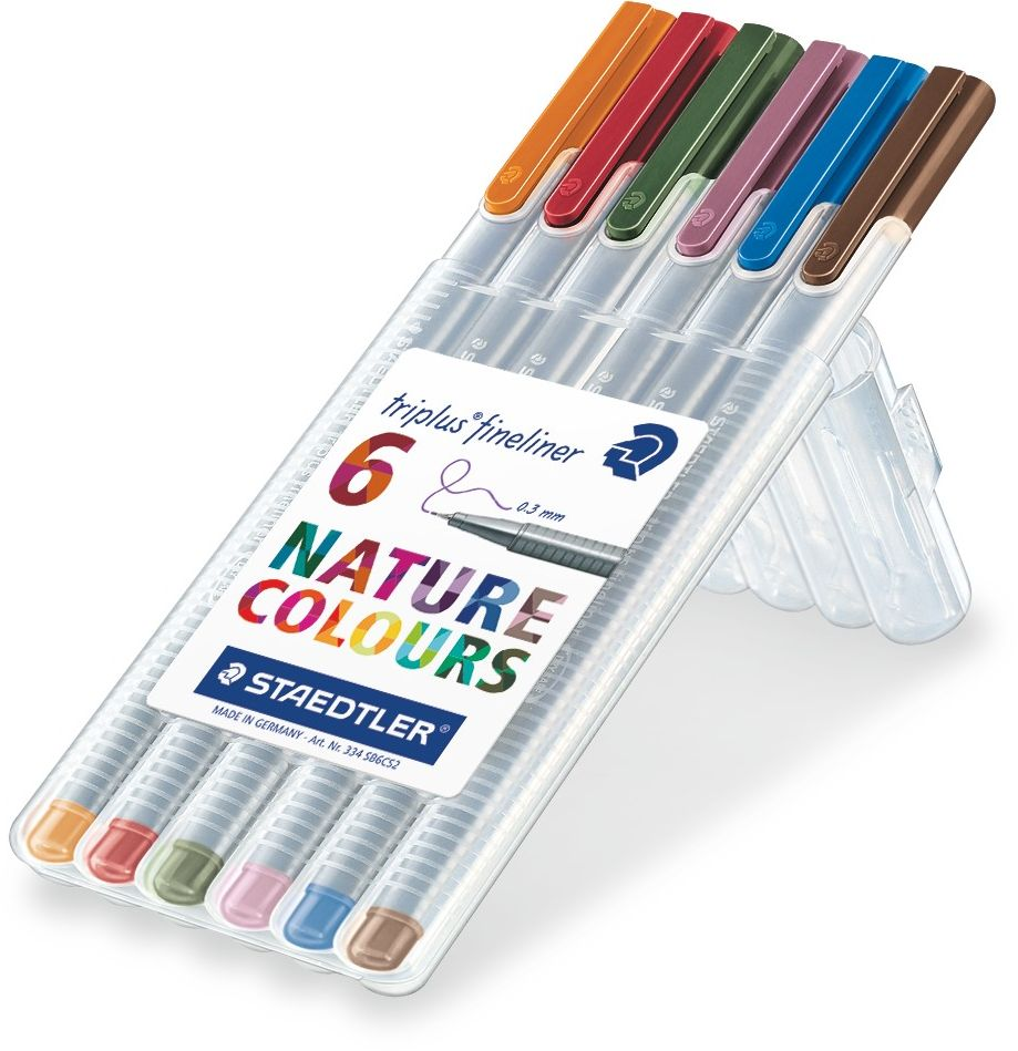 Staedtler Набор капиллярных ручек Triplus 334 6 цветов staedtler набор капиллярных ручек triplus 334 15 цветов 334c15h